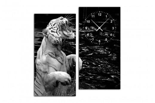 Модульные часы Белый  Тигр