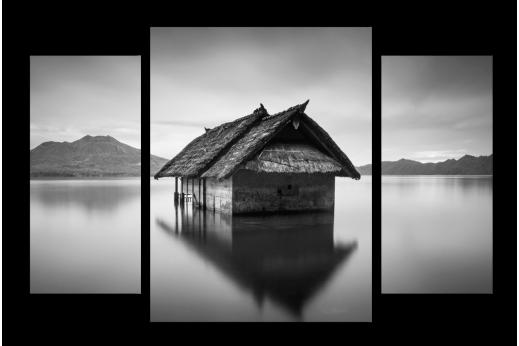 Модульная картина Дом на озере