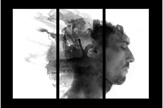 Модульная картина Мужской портрет
