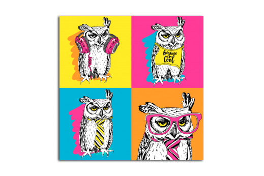 Постер Поп-арт Будни одной совы